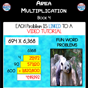 Area Multiplication - Book 4