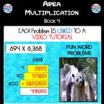 Area Multiplication - Book 4