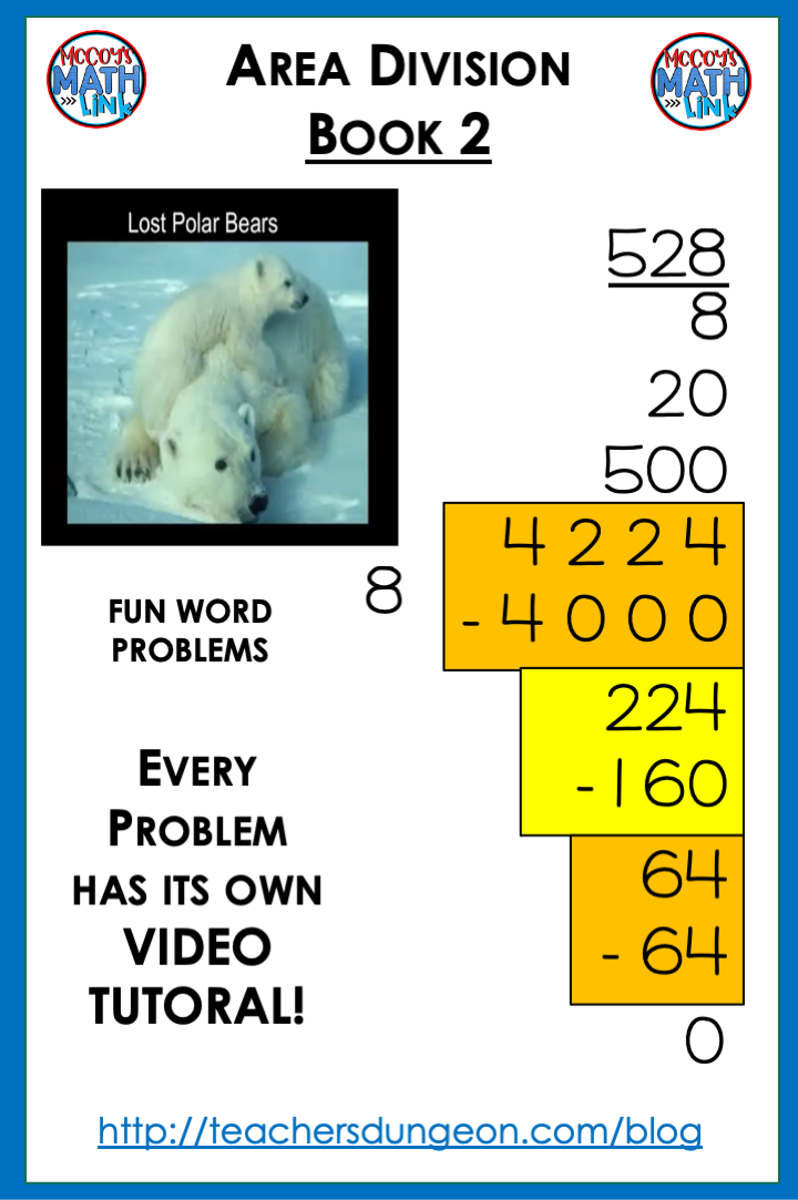 How to do Long Division - Four Digits Divided by One (4,224 ÷ 8) with Online Tutoring in Math